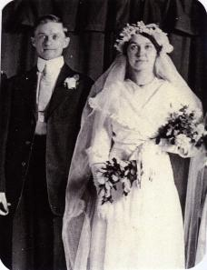 Ted and Flora Wilhelm on their wedding day 1951