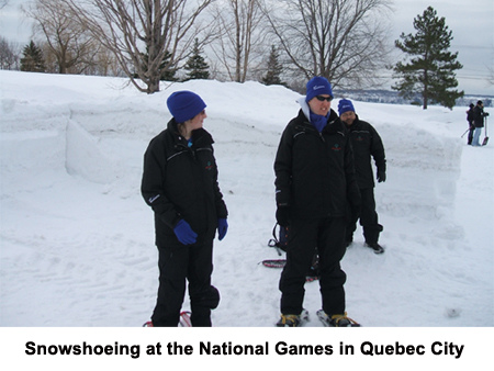 Snowshoeing at National Games in Quebec City