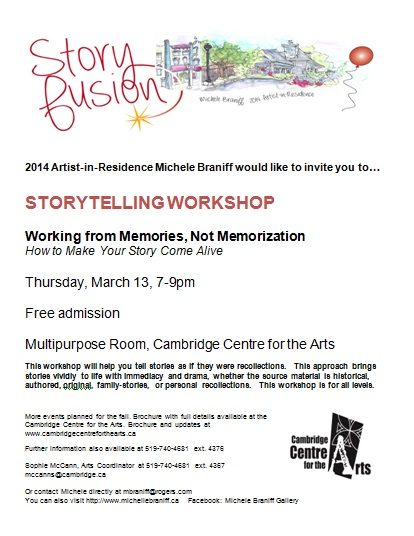 Storyfusion March 13 workshop